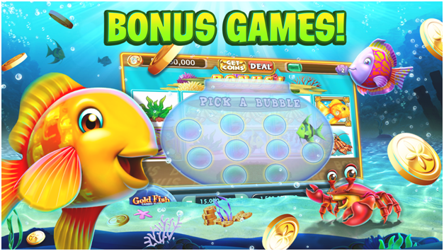 Bonus games in Gold Fish slot game