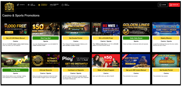 Golden Nugget promotions