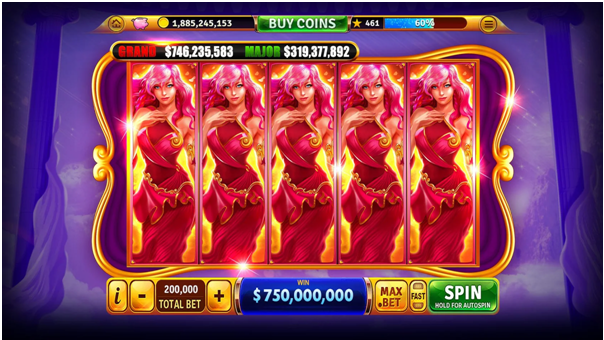 Features of House of Fun Slots app play for fun online casino