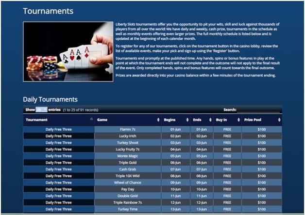 Liberty  Slots Tournament