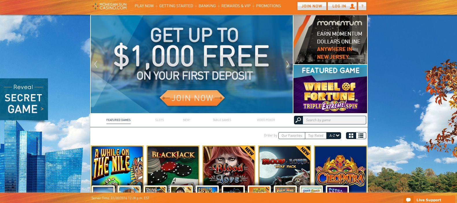 Mohegan sun casino bonus offers