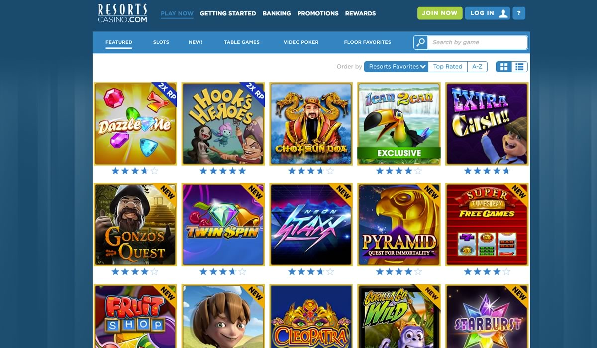 Resorts casino games to play