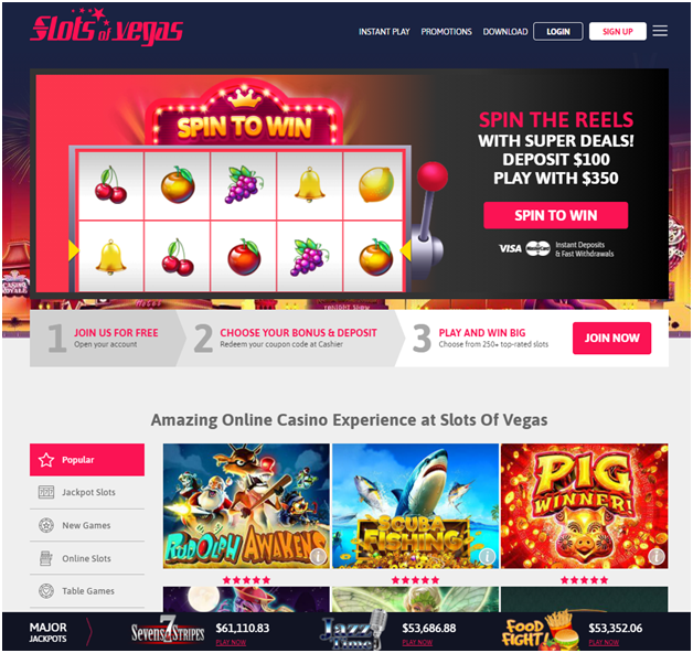 Slots of Vegas Highest payout casino