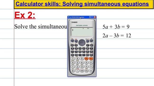 Strong Calculation Skills