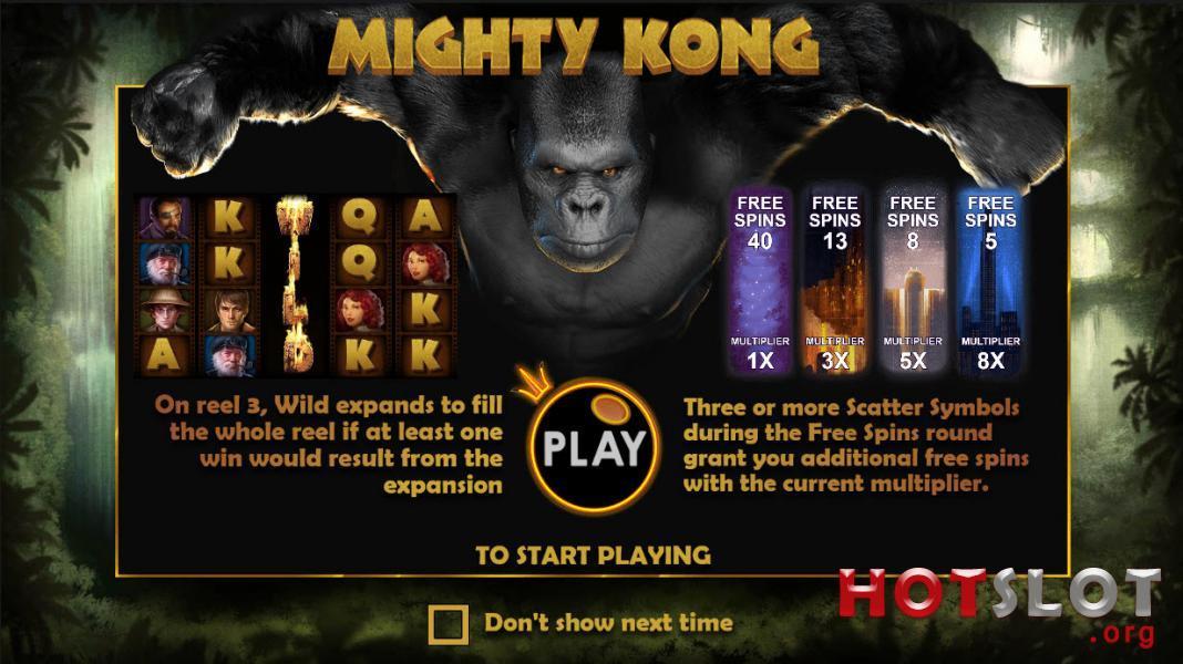 Mighty Kong Screen